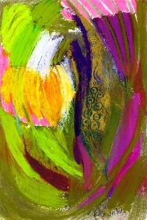 exoticspring-30x20,oilpastelsonpaper,2012